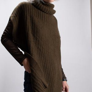 Theory Slouchy Turtleneck Poncho Wool/ Cashmere